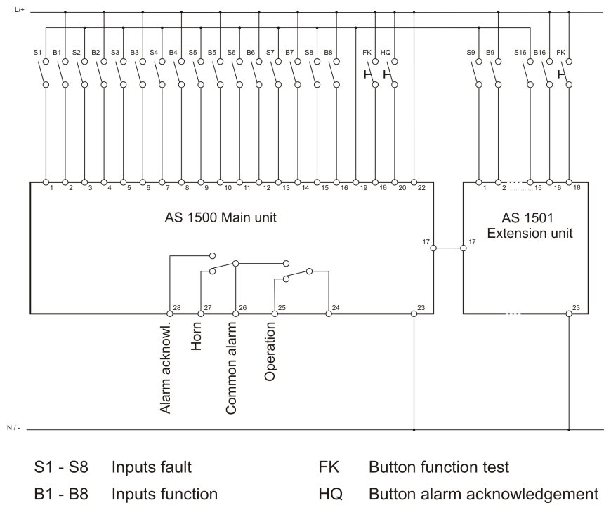 Schema_AS1500_E_G operation faultindicator as1500 cummins annunciator panel wiring diagram at nearapp.co